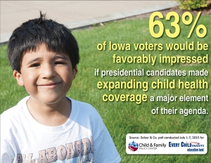 4D. Sm Poll findings -- favorable child health coverage